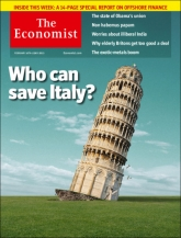 The Economist – A la une cette semaine…Who can save Italy?
