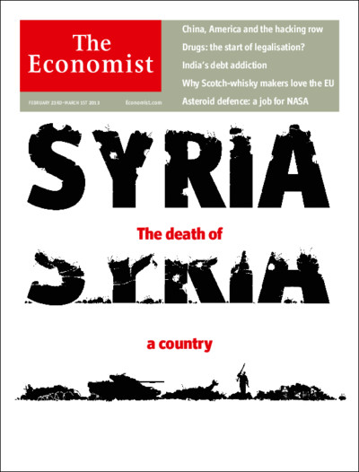 The Economist – A la une cette semaine…Syria – The death of a country
