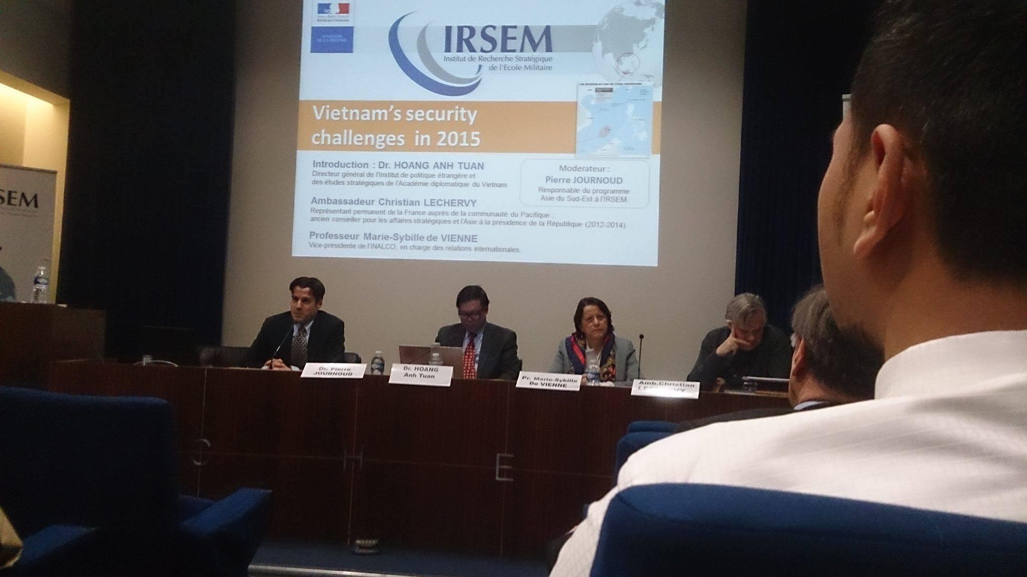 Les enjeux de sécurité du Vietnam en 2015 –  Table ronde de l'IRSEM