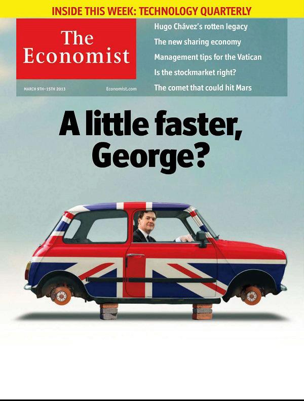 The Economist – A la une cette semaine…A little faster, George?