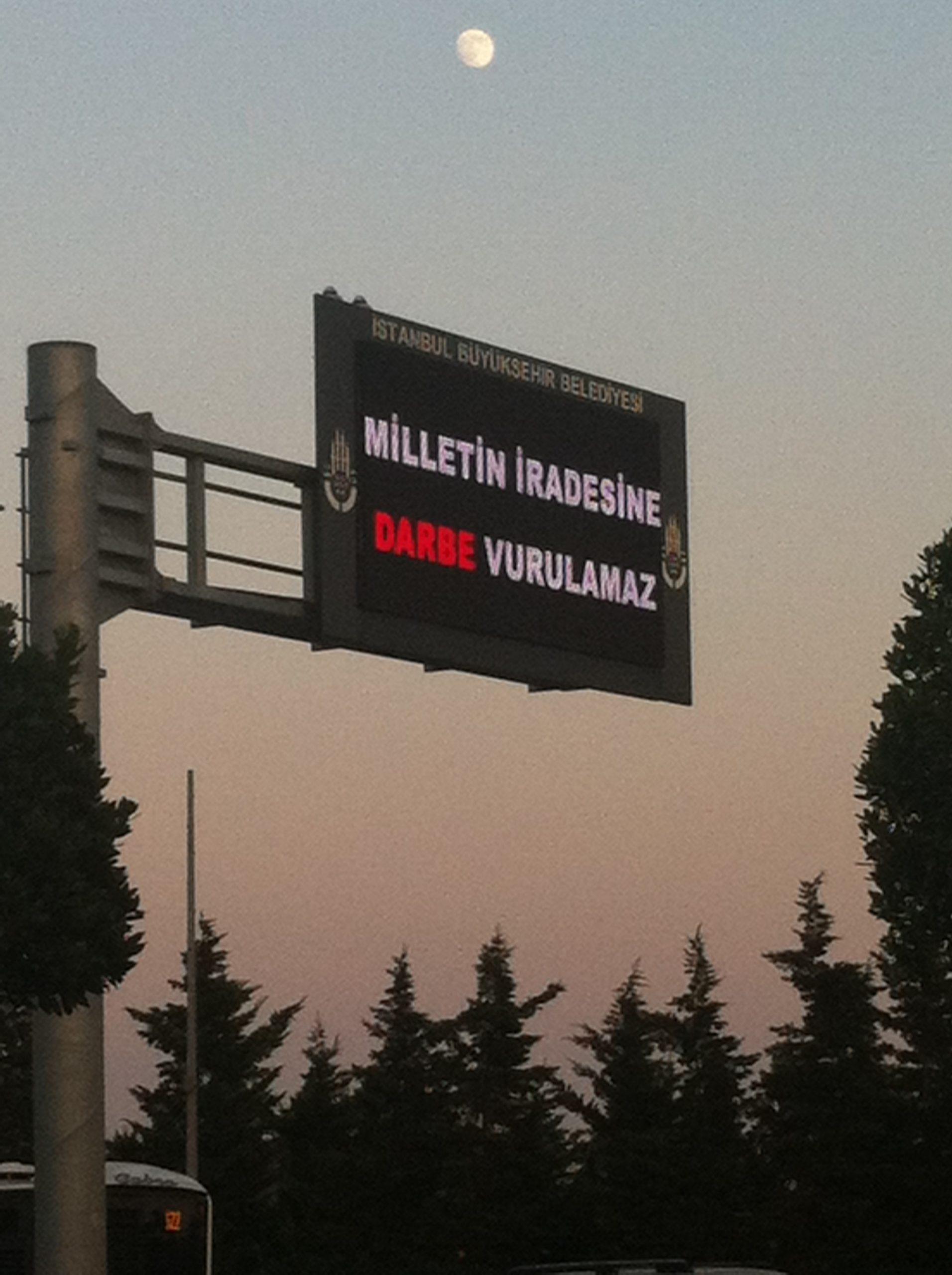 Turquie :  « Un coup d'État ne peut atteindre la volonté de la nation »