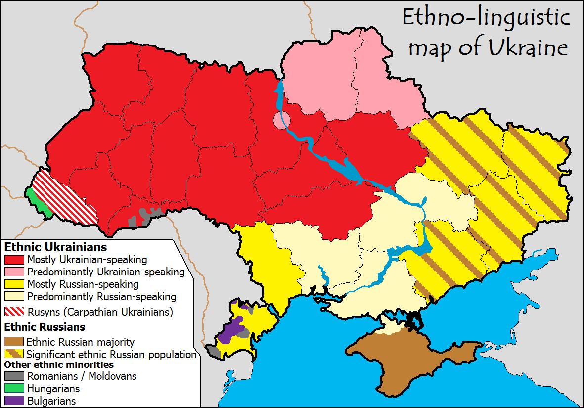 Division linguistique ukraine