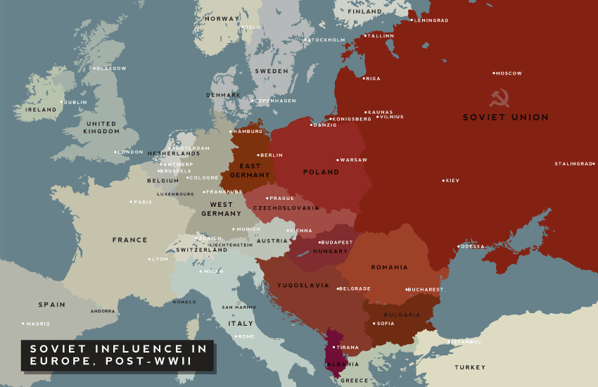 Carte post WWII