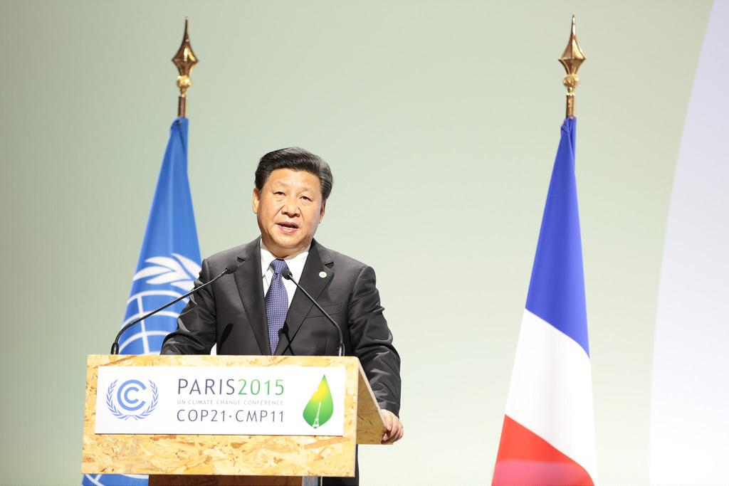 Le dirigeant chinois Xi Jinping à la COP21