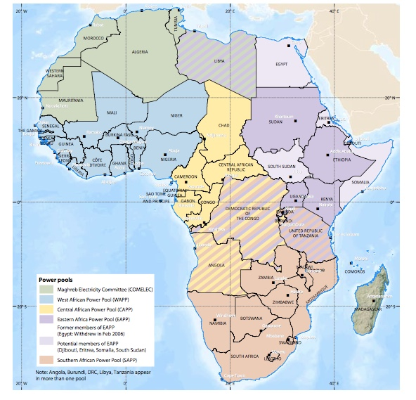 Carte Pôles - from Africa Energy Atlas